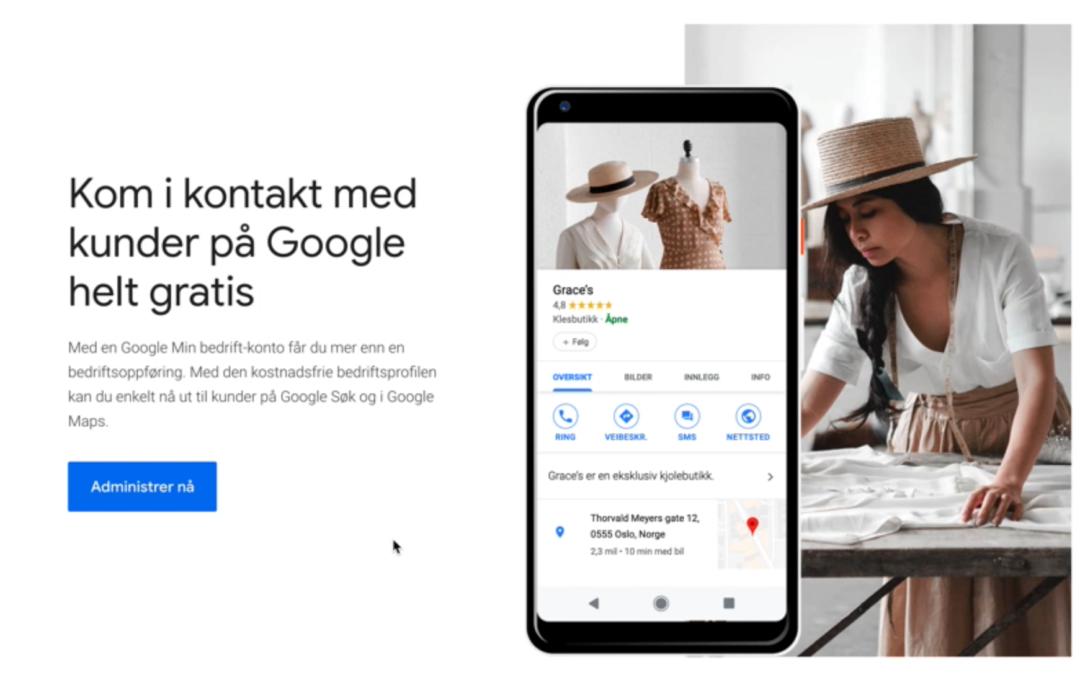 Kom i kontakt med kunder på Google helt gratis